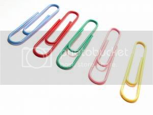 organized paperclips